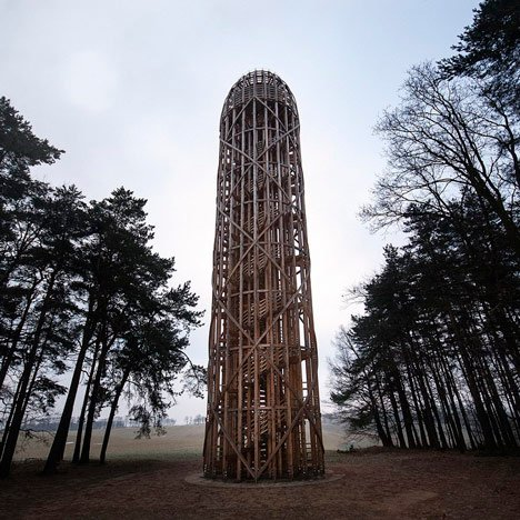 Timber observation tower sh