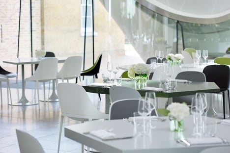 The Magazine restaurant at the Serpentine Sackler Gallery extension by Zaha Hadid