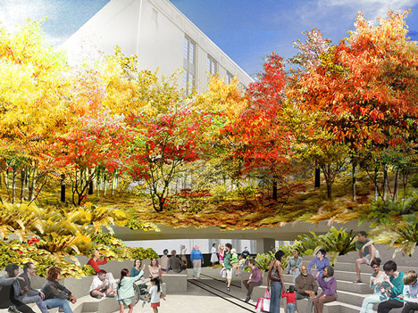 Plant-filled amphitheatre proposed for the High Line's final stretch