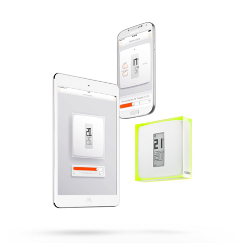 Thermostat controlled using a smartphone by Philippe Starck for Netatmo