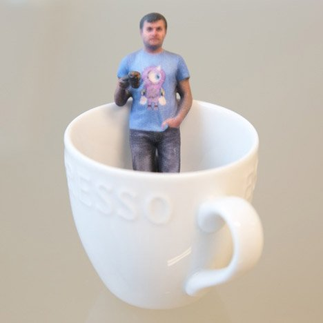 Tiny 3D selfies created using Kinect