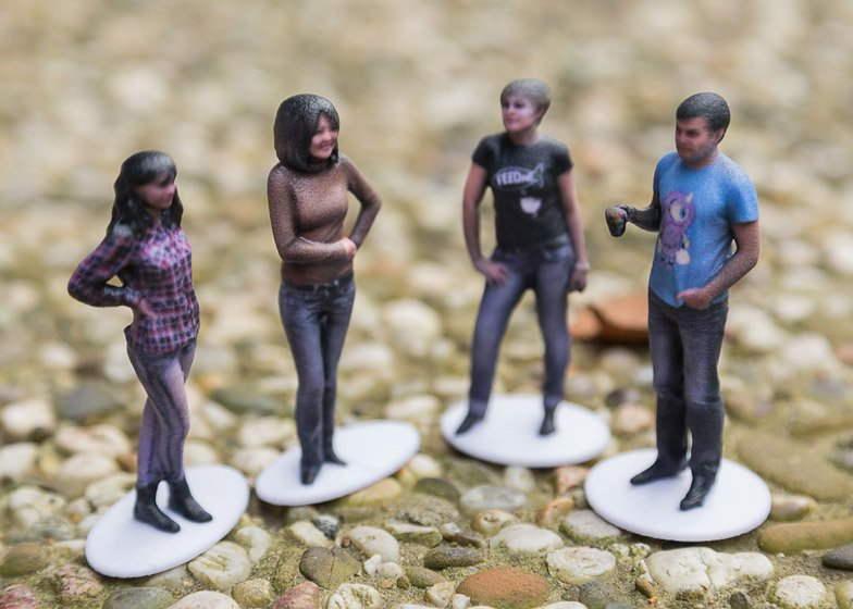 Tiny 3D-printed selfies can be ordered from your living room