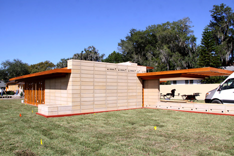 Unbuilt Frank Lloyd Wright house realised 74 years after it was designed