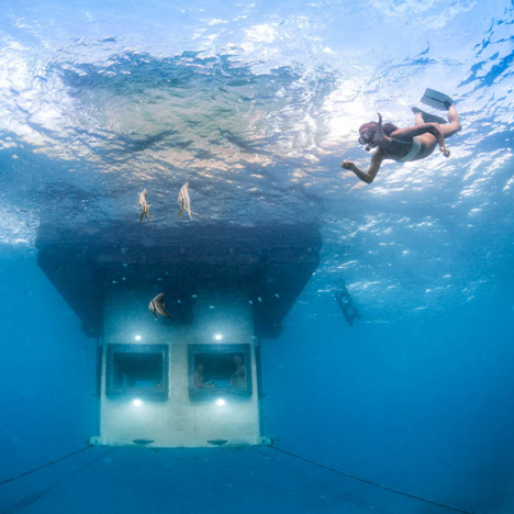 Underwater Room at The Manta Resort