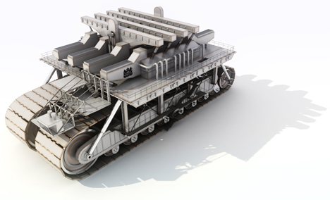Very Large Structure by Manuel Domínguez is a giant city on wheels