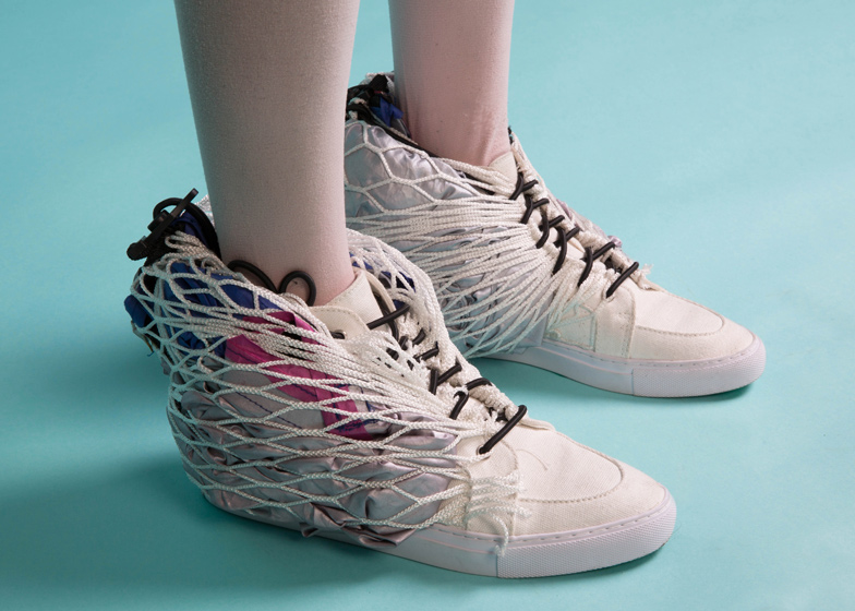 Walking Shelter shoes by Sibling transform into a tent