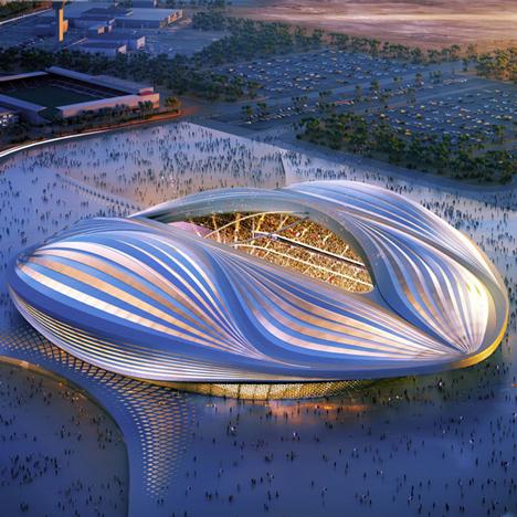 Zaha Hadid's Al Wakrah stadium in Qatar
