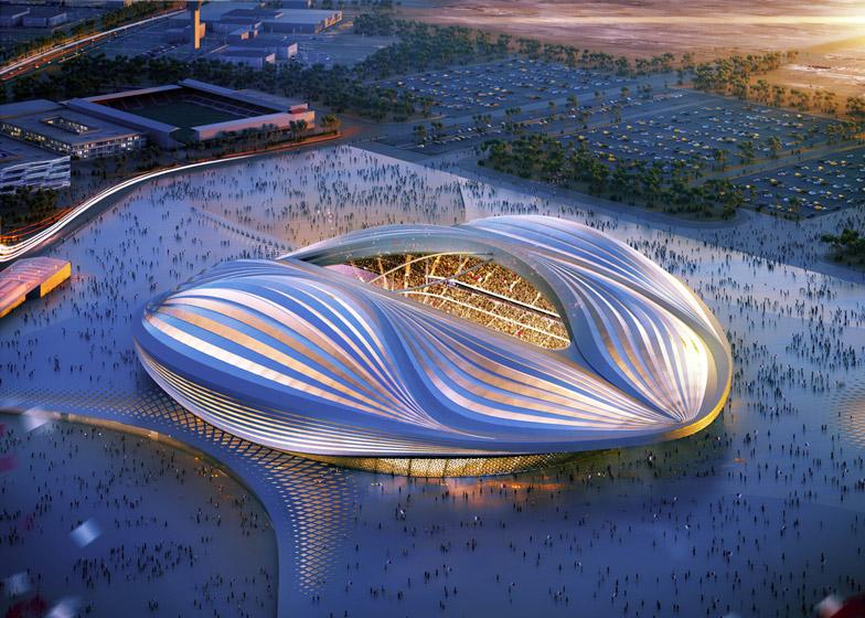 Zaha Hadid's Al Wakrah stadium has been compared to a vagina