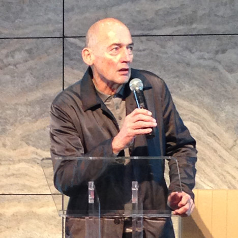 Rem Koolhaas at the launch of De Rotterdam