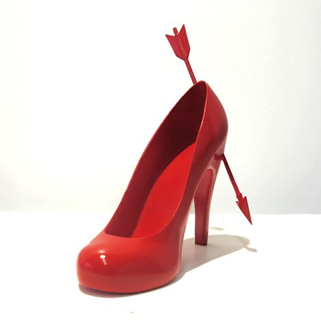 Heart Breaker 12 shoes for 12 lovers by Sebastian Errazuriz