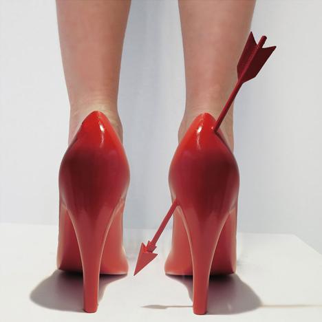 Heart Breaker 12 shoes for 12 lovers by Sebastian Errazuriz