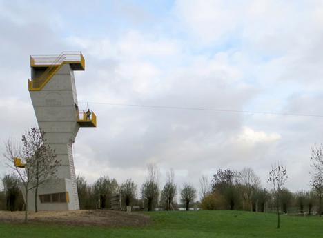 Adventure tower in concrete at Beldert Beach by Ateliereen Architecten