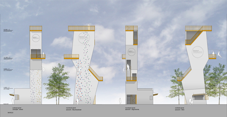 Adventure tower in concrete at Beldert Beach by Ateliereen Architecten_dezeen_15