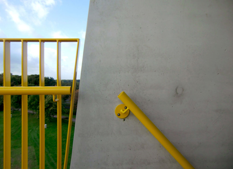 Adventure tower in concrete at Beldert Beach by Ateliereen Architecten_dezeen_4
