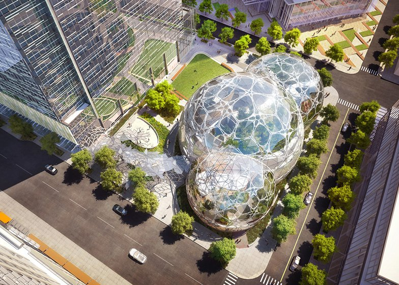 Amazon wins approval for Seattle headquarters inside giant orb-shaped greenhouses