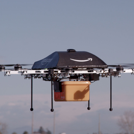 "Amazon tests drones that could deliver packages ""in less than 30 minutes"""