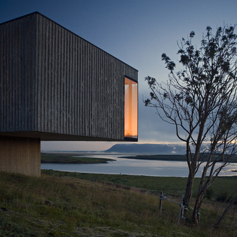 Árborg House by PK Arkitektar overlooks<br /> an Icelandic glacial valley