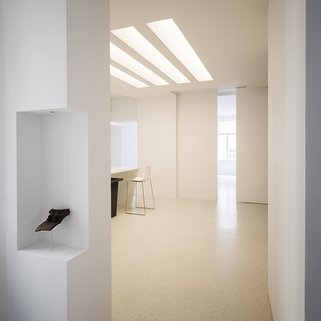Viennese apartment with pretend skylights by Alex Graef