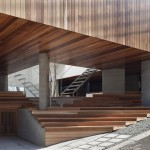 House by Kazuhiko Kishimoto has a public seating deck and gallery underneath