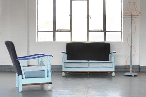 Blue sofas at Interiors UK 2014