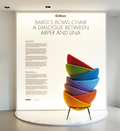 Bowl chair by Lina Bo Bardi reissued by Arper_dezeen_10