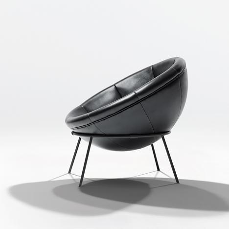 Bowl chair by Lina Bo Bardi reissued by Arper_dezeen_3