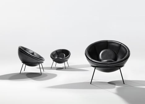 Bowl chair by Lina Bo Bardi reissued by Arper_dezeen_5