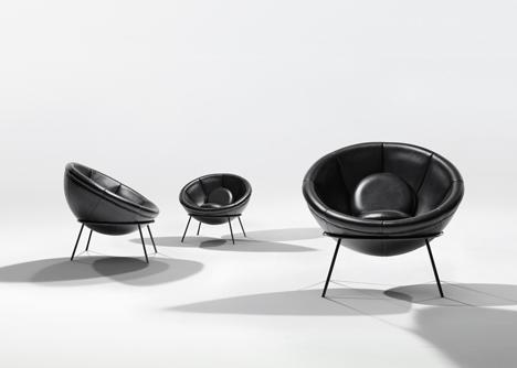 Bowl chair by Lina Bo Bardi reissued by Arper_dezeen_5