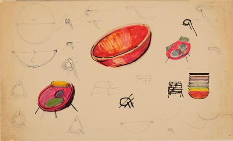 Bowl chair by Lina Bo Bardi reissued by Arper_dezeen_8