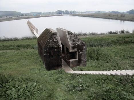 Rozřezaný bunkr v Nizozemí