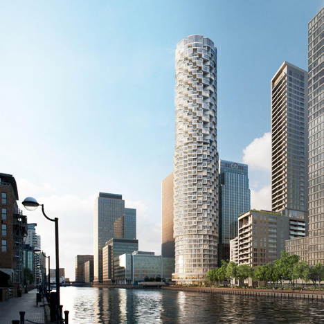 Wood Wharf tower designed by Herzog and de Meuron