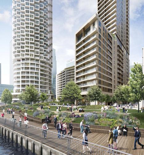 Herzog de meuron design skyscraper for london 39 s canary wharf for 10 york terrace east london