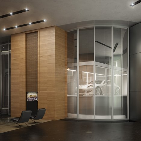 Car elevators in Porsche Design's Miami tower will give billionaires drive-in apartments