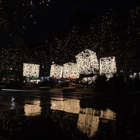 Bauhaus Weihnachtsbeleuchtung.Berlin Christmas Lights By Brut Deluxe Design Dezeen