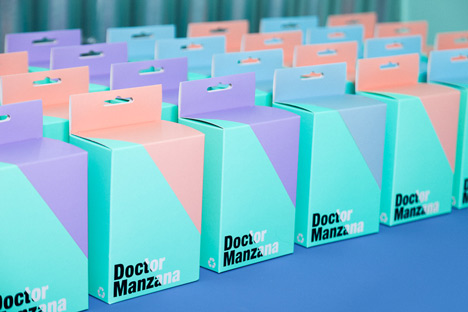Doctor Manzana colourful gadget shop interior by Masquespacio_dezeen_9