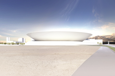 Doha City Tennis Stadium by Arup Associates