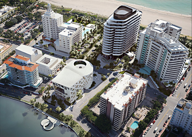 Aerial view of Faena Miami Beach
