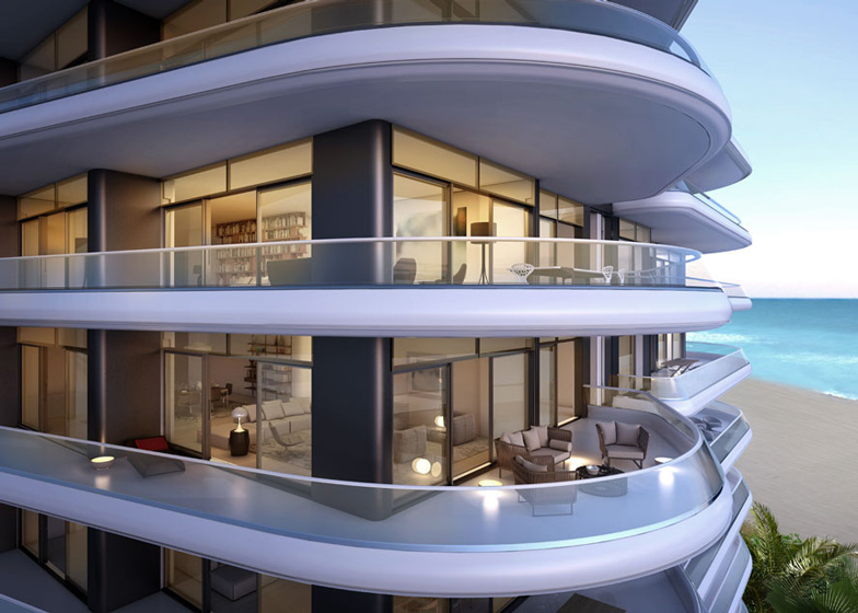 """Alero"" terraces at Faena House by Foster + Partners at Faena Miami Beach"