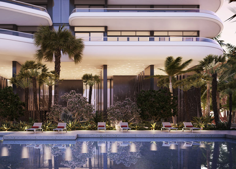 Pool at Faena House by Foster + Partners at Faena Miami Beach