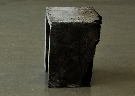 Furniture made from soil and baked like bread by Erez Nevi Pana