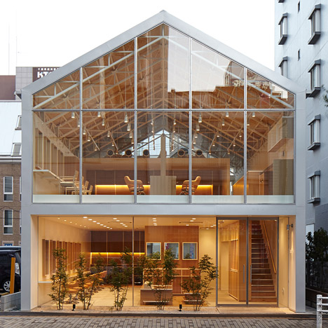 Ryo Matsui's Hairdo salon has a transparent house-shaped facade
