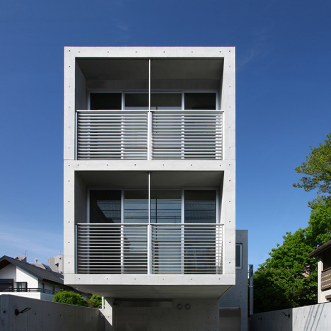 Concrete Homes Patterned With Formwork Holes By Atelier Hako