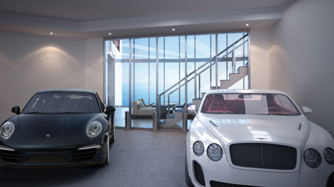 Interior of Porsche Design Tower in Miami