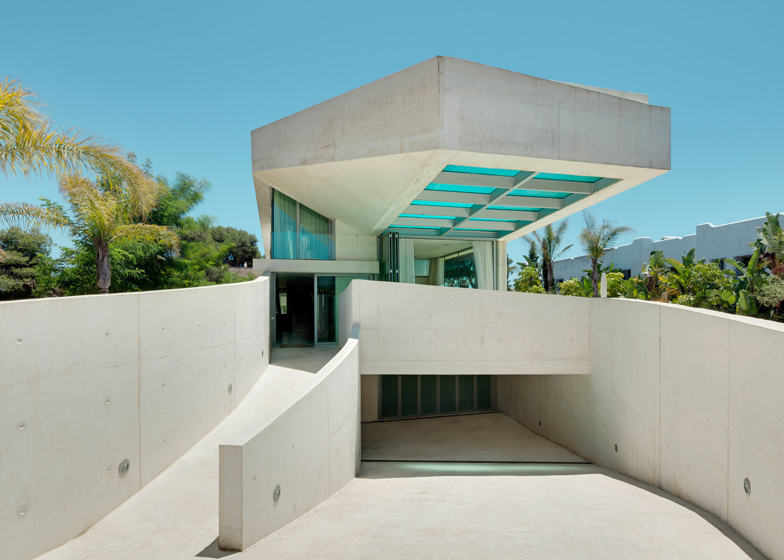 A Rooftop Swimming Pool With A Glass Floor Cantilevers Out Beside The  Entrance To This House In Marbella, Spain, By Dutch Office Wiel Arets  Architects.