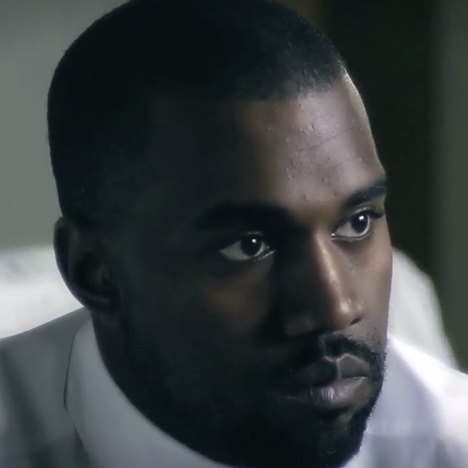 Kanye West protrait from interview for Rem Koolhaas documentary by Tomas Koolhaas Dezeen