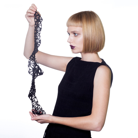 """4D-printed"" shape-changing dress and jewellery by Nervous System"