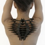 Daniel Widrig creates wearable sculptures based on a 3D scan of the body