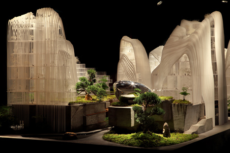 MAD's Nanjing masterplan features buildings designed to look like mountains