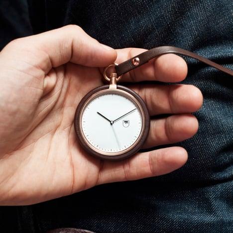 MMT Calendar wooden pocket watch