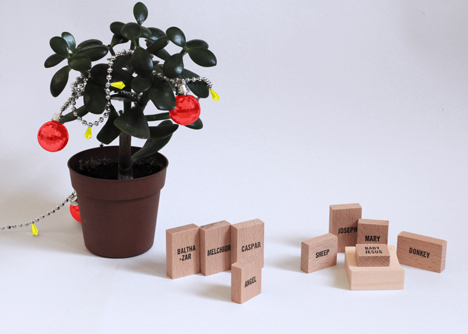 Minimal Nativity Set by Emelie Voirin